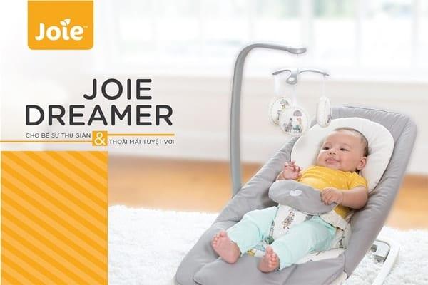 Ghế rung đa năng trẻ em Joie Dreamer Petite City