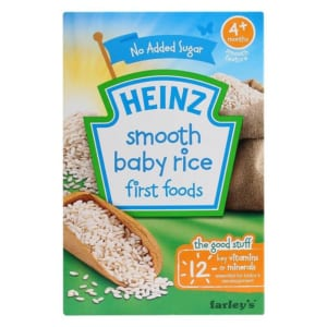 Bột ăn dặm Heinz gạo xay nhuyễn 4M (1)