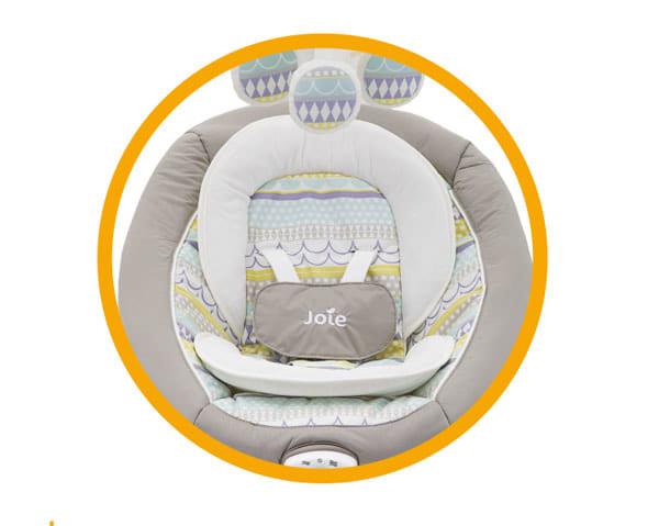 Thiết kế lớp đệm hỗ trợ đầu và cơ thể bé được an toàn và thoải mái