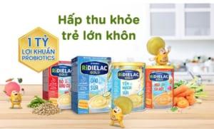 Bột ăn dặm Ridielac Gold là một sản phẩm của thương hiệu Vinamilk nổi tiếng Việt Nam